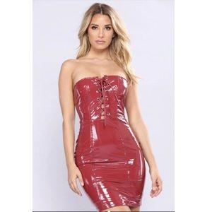Red Latex Dress